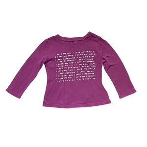 Old navy long sleeved t-shirt 12-18 months